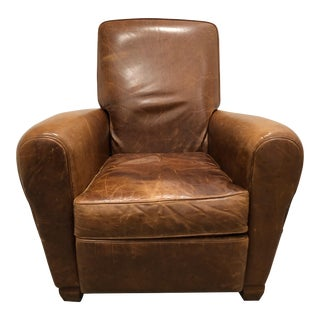 American Leather Briarwood Leather Burrows Recliner For Sale