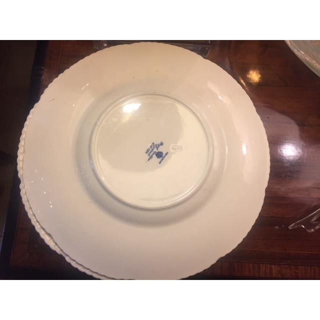 French Country Blue Transferware Charger Round Plates - Set of 12 For Sale - Image 11 of 13