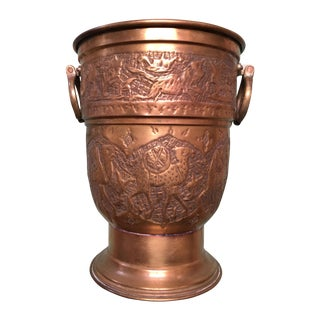 Nader Mid-Century Brass Over Copper Ice Bucket