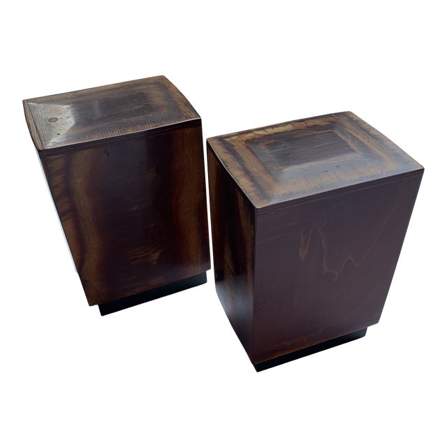 Burl Wood Bookends - a Pair For Sale