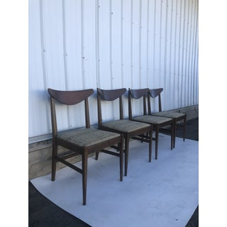 Mid Century Walnut Dining Chairs by Stanley - Set of 4 Preview