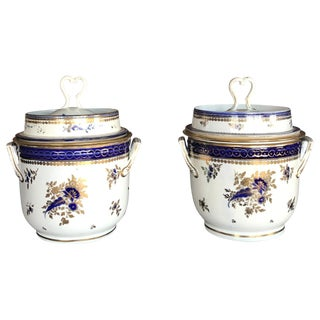 Late 18th Century Antique Caughley Fruit Coolers - A Pair For Sale