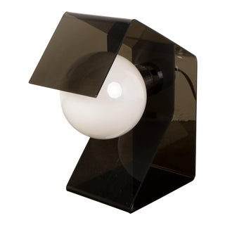 Mid-Century Space Age Black Table Lamp For Sale