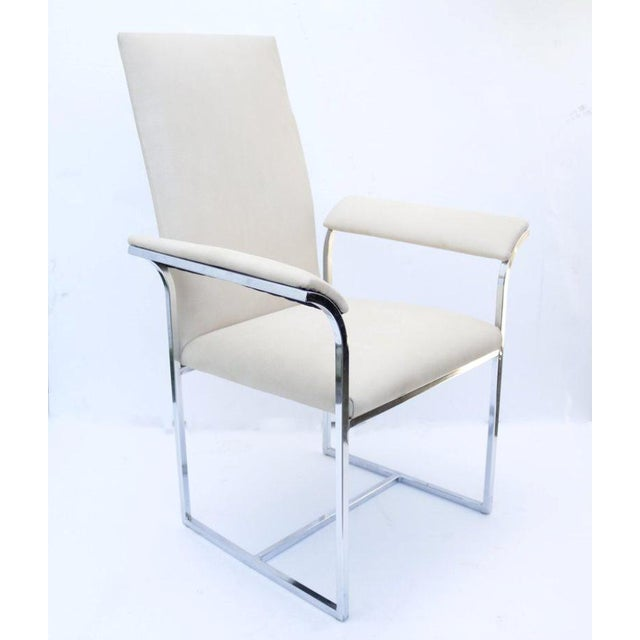 Mid-Century Modern A Pair of Chairs by Milo Baughman for Thayer Coggin For Sale - Image 3 of 7
