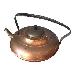 Mid-Century Copper Teapot For Sale