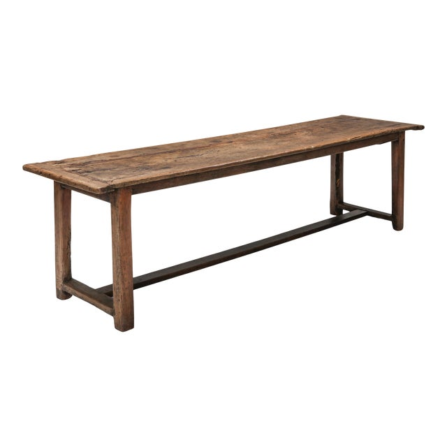 1800s Rustic Modern Refactory Oak Dining Table For Sale
