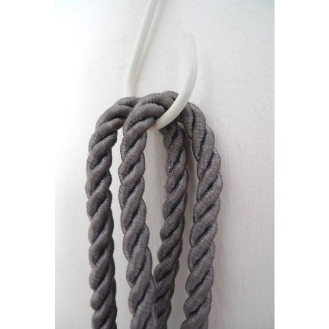 Moroccan Gray Silk & Brass Tassel Ornament - Image 7 of 9