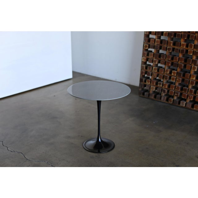 Marble Eero Saarinen Gray Marble Occasional Table for Knoll Circa 1980 For Sale - Image 7 of 9