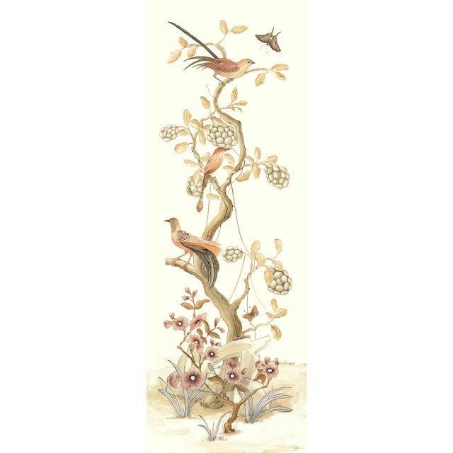 """Chinoiserie Style Bird Painting, """"Take It to the Nest Level"""" For Sale"""