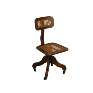 Groovy Vintage Used Oak Office Chairs Chairish Dailytribune Chair Design For Home Dailytribuneorg