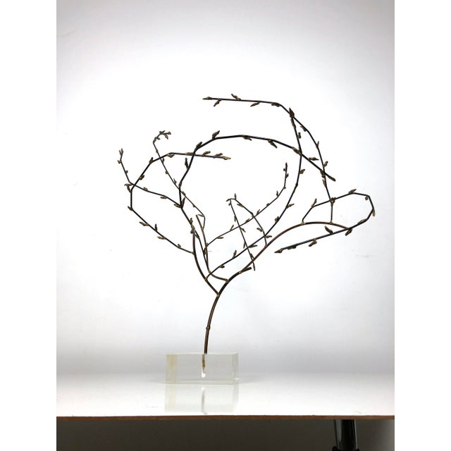 Brutalist 1970s Brutalist Brass Willow Tree Sculpture For Sale - Image 3 of 11