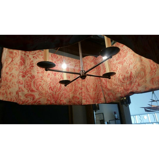Modern Draped Chandelier in Vintage Fortuny Fabric by Paul Marra For Sale - Image 9 of 11