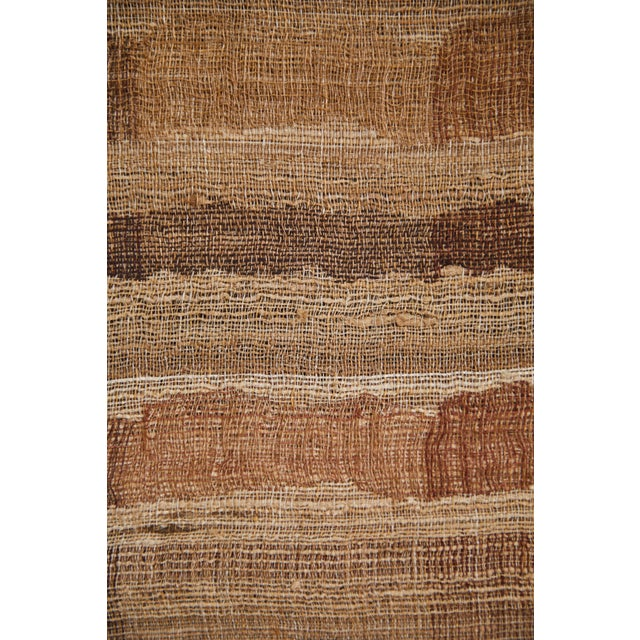 Indian Handwoven Throw Ocean Stripe Warm For Sale - Image 4 of 5