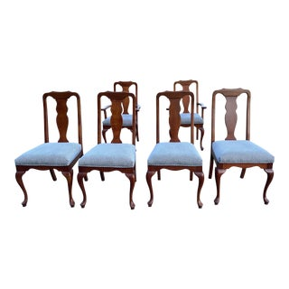 Harden Queen Ann Dining Room Chairs - Set of 6 For Sale