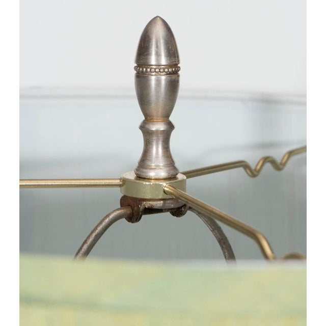 Early 20th Century Pair of Glass and Silver Plate Lamps For Sale - Image 5 of 7