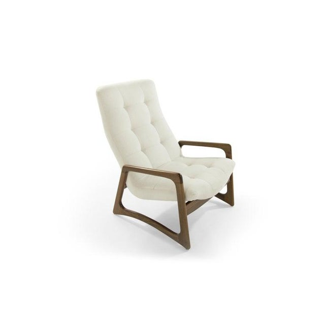 Wood Sculptural Walnut Lounge Chairs by Adrian Pearsall for Craft Associates - a Pair For Sale - Image 7 of 13