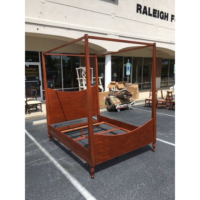 Traditional Ralph Lauren Queen Size Poster Bed With Canopy For Sale - Image 3 of 10