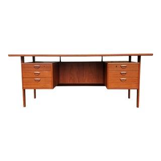 A Danish Mid-Century Modern Executive Desk by Kai Kristiansen For Sale