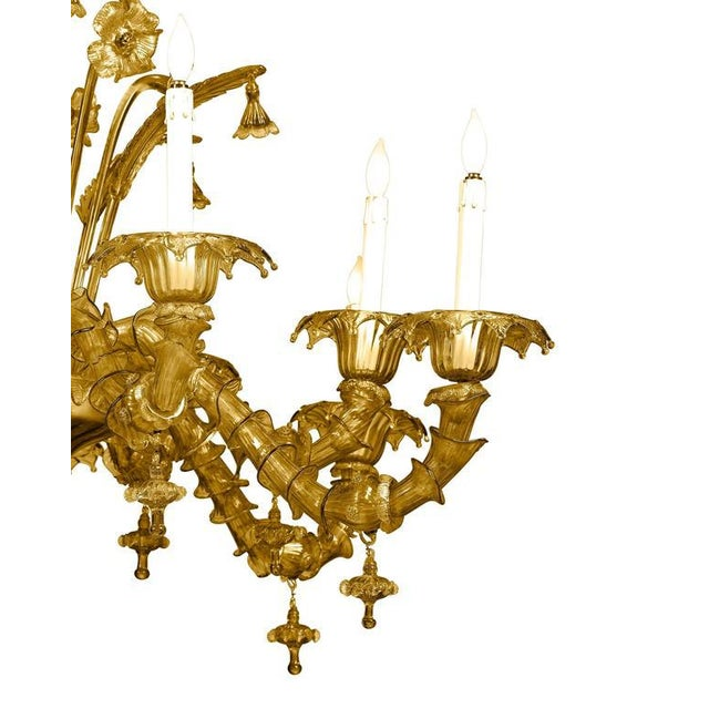 Italian Venetian-Murano Glass Chandelier For Sale - Image 3 of 5