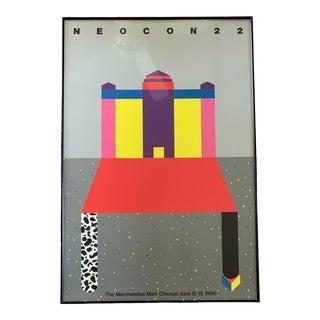 1990s Pop Art Neocon 22 Chicago Poster, Framed For Sale
