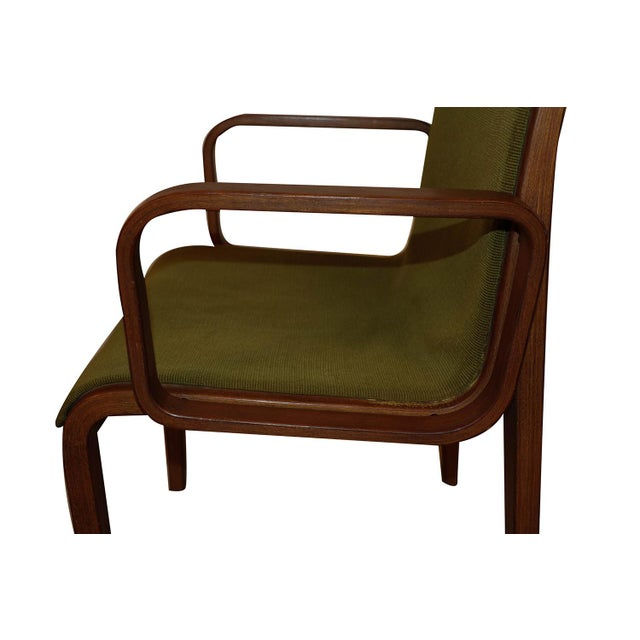 Olive Mid Century Bill Stephens Knoll Bentwood Chair For Sale - Image 8 of 11
