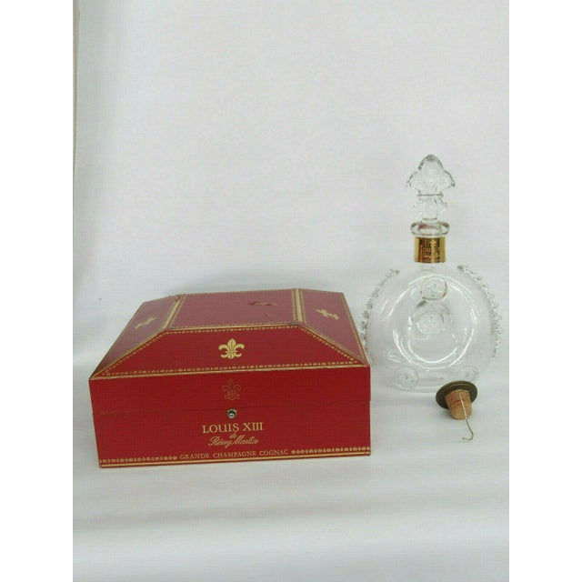 Remy Martin Louis XIII Empty Baccarat Crystal Cognac Bottle Box Set For Sale - Image 11 of 11
