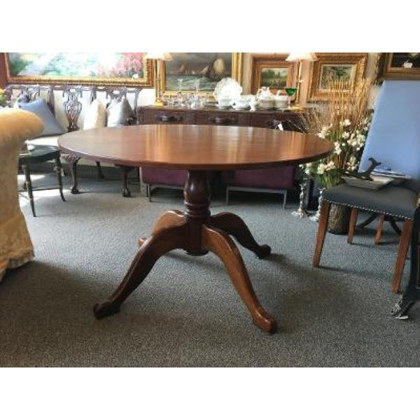 English Cherrywood Round Pedestal Table For Sale In New York - Image 6 of 6