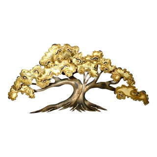 """Vintage Mid-Century C. Jere Brutalist Style """"Tree"""" Wall Mounted Sculpture For Sale"""