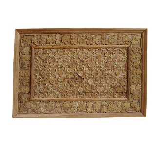 Old Wood Carved Panel For Sale