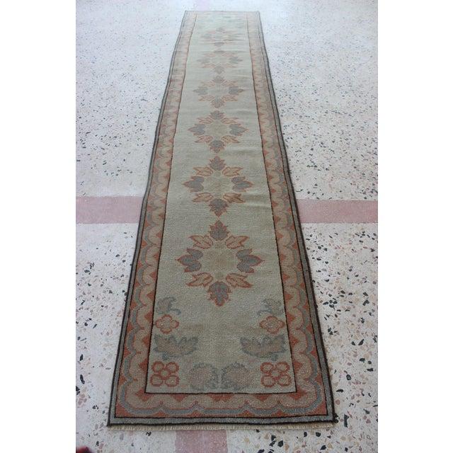 Islamic Oriental Handmade Runner Rug - 2′5″ × 11′4″ For Sale - Image 3 of 9