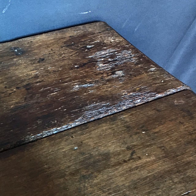 Antique English Paneled Oak Coffer Blanket Chest For Sale - Image 9 of 13