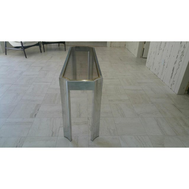 Aluminum & Brass Sofa Table - Image 6 of 6