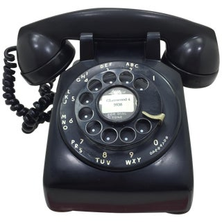 Black Western Electric 5302 Rotary Dial Telephone