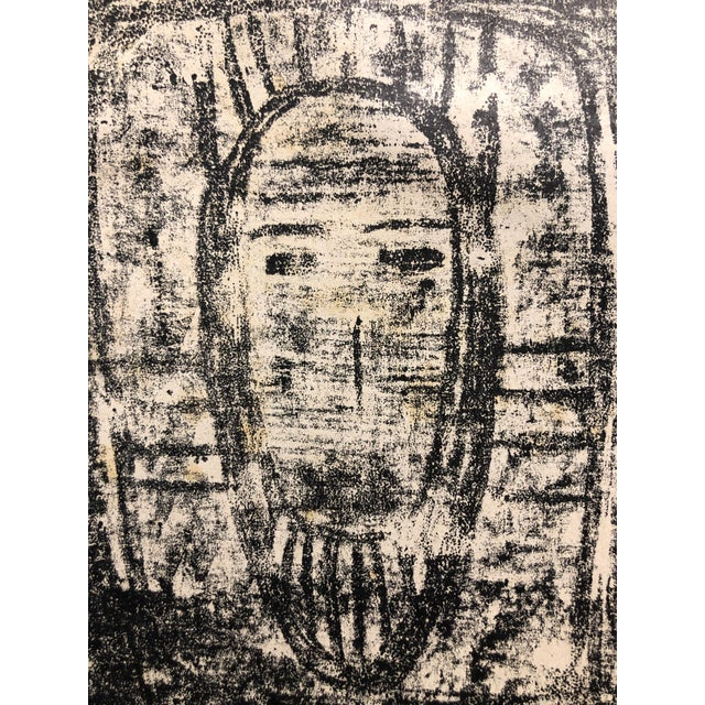 Ruth Bannon Mid Century Masked Man Lithograph For Sale - Image 4 of 4