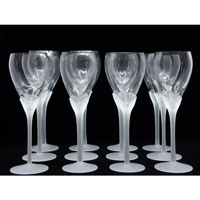 "This set of 12 vintage ""Alexandra"" crystal champagne glasses by Mikasa will create a distinct elegance at any dining..."