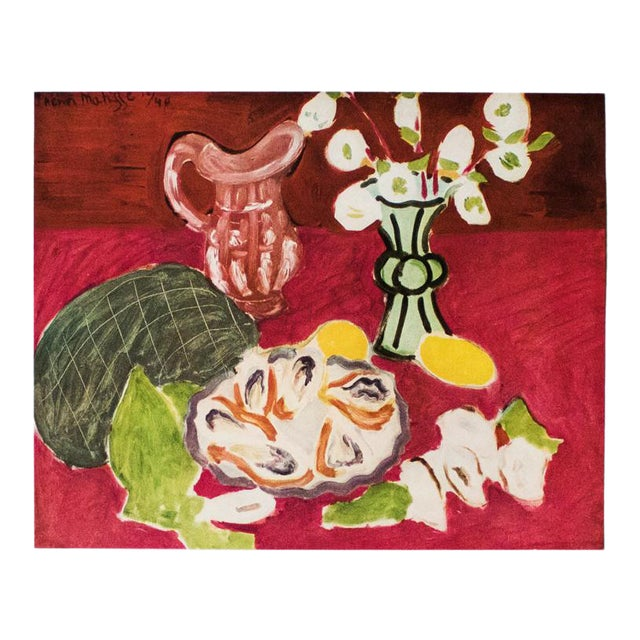 """1946 Henri Matisse Original """"Christmas Roses and Oysters"""" Period Parisian Lithograph For Sale"""