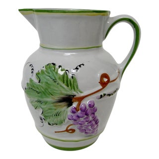 Portuguese Porcelain Pitcher For Sale