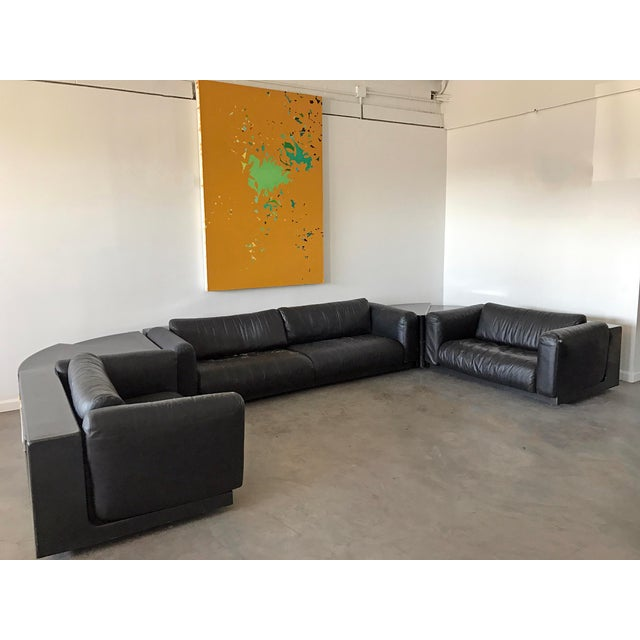 An absolutely stunning modular sofa designed by Cini Boeri for Gavina Knoll. The sofa consists of one sofa and 2 love seat...
