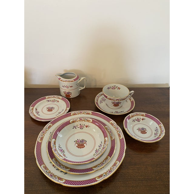 Incredible set ( 60 pieces) of Lord Calvert patterned Spode China consisting of eight place settings of a dinner plate,...