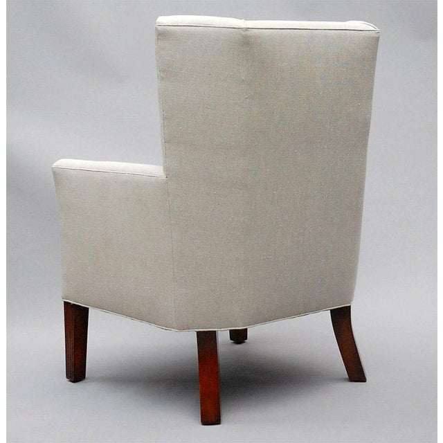 World Class Ellsworth By Lee Stanton Wing Chair Belgium Linen