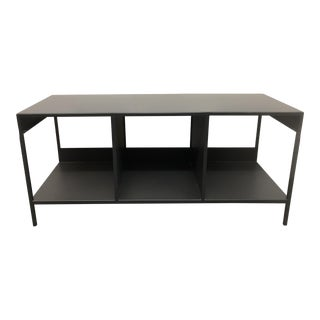 Slim Steel Cubby Bench From Room & Board For Sale