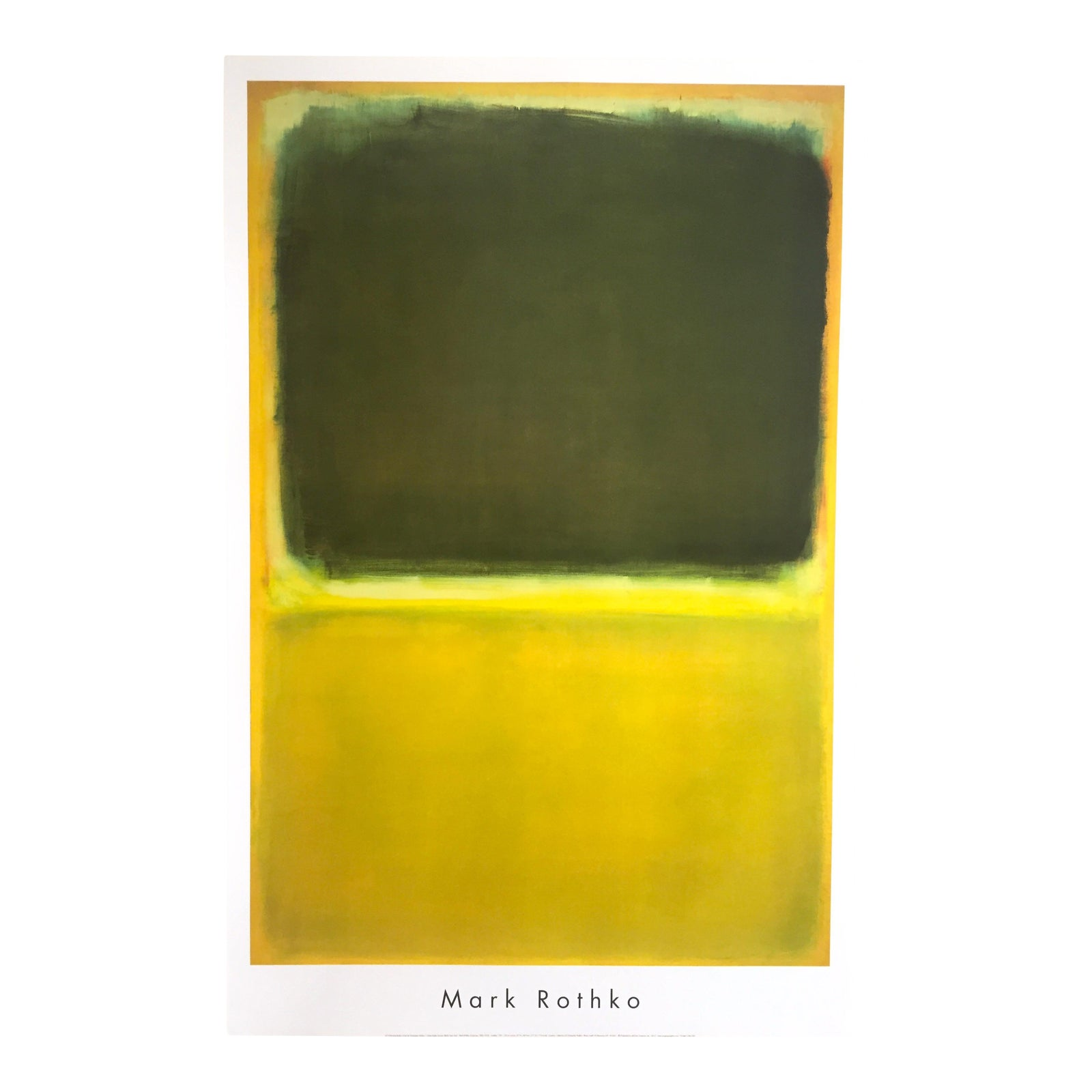 Mark Rothko Abstract Expressionist Lithograph Print Poster