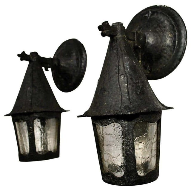 Metal 1920s Aluminum Outdoor Sconces - a Pair For Sale - Image 7 of 7