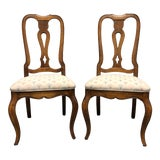 Image of Ethan Allen French Country Dining Side Chairs - Pair 1 For Sale