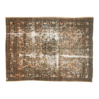 "Vintage Distressed Hamadan Carpet - 6'11"" x 9'5"""