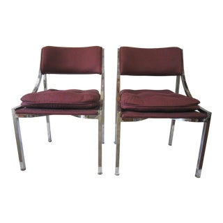 Milo Baughman Side Chairs- a Pair For Sale