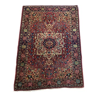 "1930s Antique Persian Sarouk Rug- 3'3"" X 4'10"" For Sale"