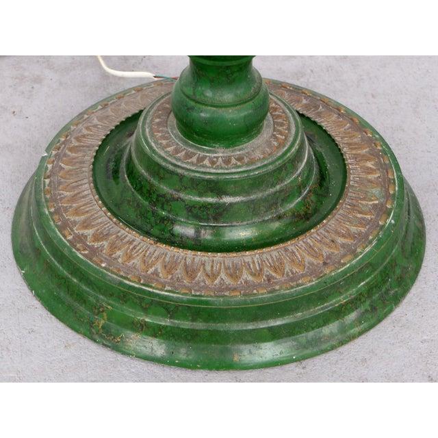 Mid 20th Century Retro Standing Floor Green Enamel & Brass Column Telephone For Sale - Image 5 of 8