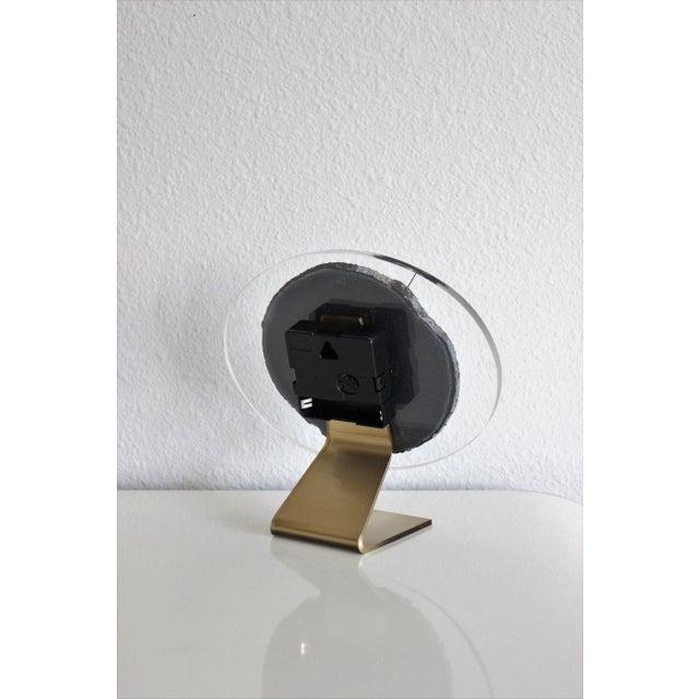 Modern Gray Agate Desk Clock - Image 6 of 8