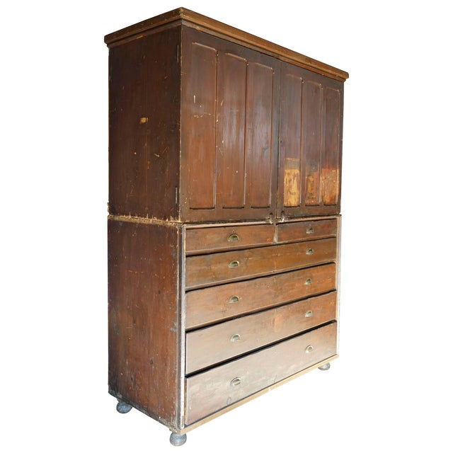 19th Century Welsh Train Station Cabinet For Sale